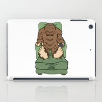 bigfoot iPad Cases featuring 'Bobby BigFoot' Couch Potato by Amanda Bickerstaff Design & Illustration
