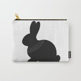 Monochrome Bunny Carry-All Pouch