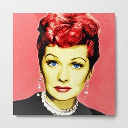 Lucille Ball - Lucy - Pop Art Metal Print