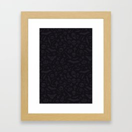 Dark Halloween Pattern Framed Art Print