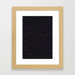 Dark Halloween Pattern Framed Art Print
