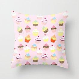 Cupcakes Party Throw Pillow