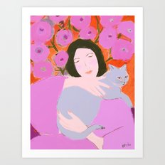 Lady in Pink Art Print