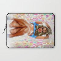 2001 Laptop Sleeves featuring 2001 girl by IvándelgadoART