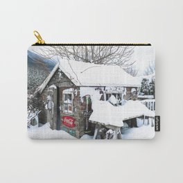Rustic Shed Snowday Carry-All Pouch
