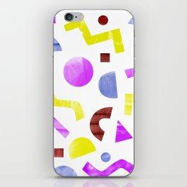 squiggles eighties iPhone Skin