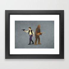 Han & Chewie Framed Art Print
