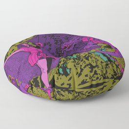 Other Worlds: The Lady and the Dragon Floor Pillow
