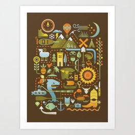 Treasure Chest Art Print