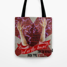 Rise, Red As the Dawn Tote Bag