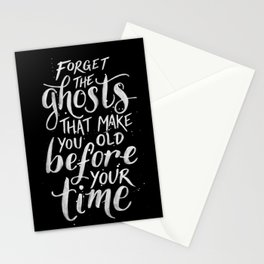 Forget the Ghosts - Black Stationery Cards