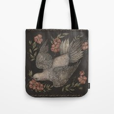 Dove and Flowers Tote Bag