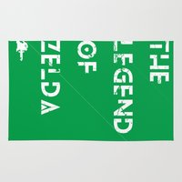 the legend of zelda Area & Throw Rugs featuring The Legend of Zelda by Slippytee Clothing