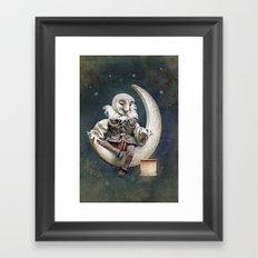 Rucus Studio Owl Poet Framed Art Print