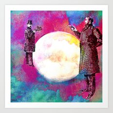 DUEL FOR THE MOON Art Print