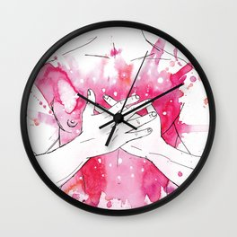 exploding heart Wall Clock