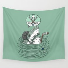 The Enforcer Shark Wall Tapestry