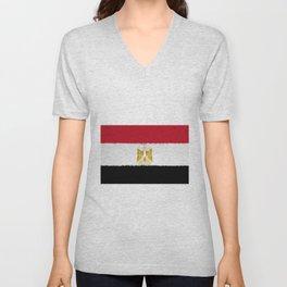 Flag of Egypt - Extruded Unisex V-Neck