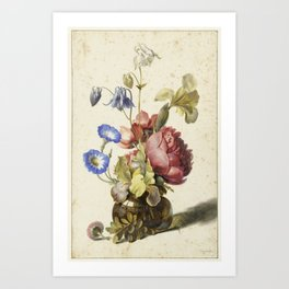 Flowers in a Bottle by Dirck de Bray Art Print