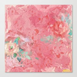 Painted Roses Canvas Print