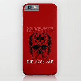 MANUFACTURA BLOOD SKULL iPhone Case