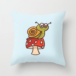 Cute snail Throw Pillow