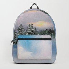 Sunset Winter Snow Backpack