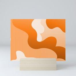 Orange Swirling Abstract Modern Art Simple Decor Mini Art Print