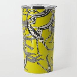 monkey chartreuse Travel Mug