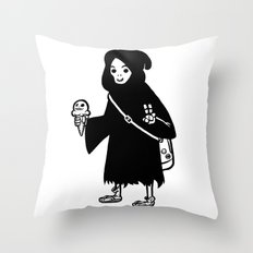 Chill Reaper Throw Pillow