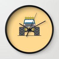 bigfoot Wall Clocks featuring #5 Bigfoot by Brownjames Prints