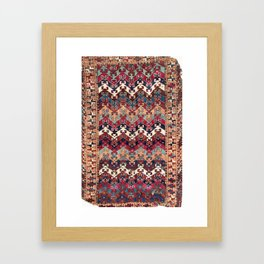 Kagizman Gaziantep Southeast Anatolian Rug Print Framed Art Print