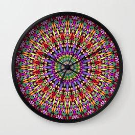 Petal Burst Mandala Wall Clock