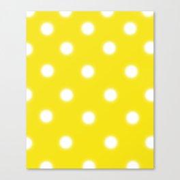 Yellow & White Polka Dot Canvas Print