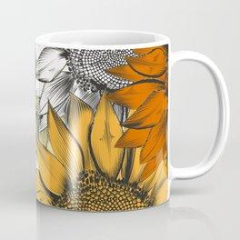 Beautiful pattern from hand drawn sunflowers Coffee Mug