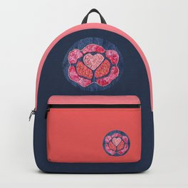 stitched heart rose Backpack