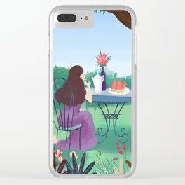Beautiful Garden Girl Clear iPhone Case