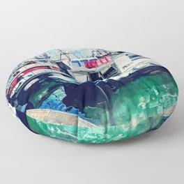 Trapani art 16 Sicily Floor Pillow