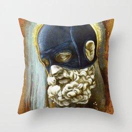 """Masked Hercules"" Throw Pillow"