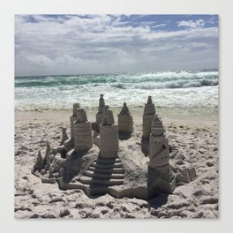 Castles In The Sand Canvas Print
