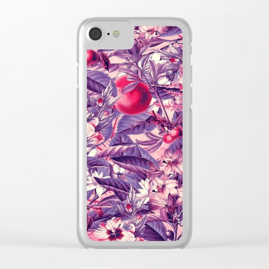 flowers 9 purple Clear iPhone Case