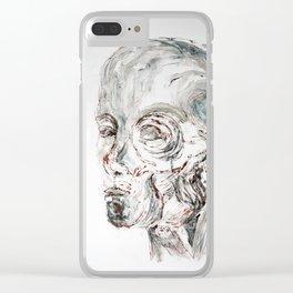 Skinned Head Clear iPhone Case