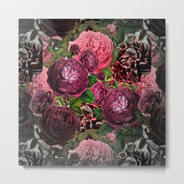 Vintage & Shabby-chic -  floral roses flowers - Flower and Rose Metal Print