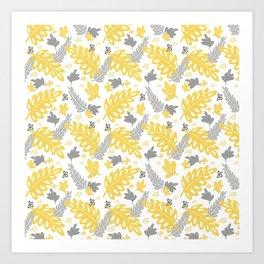 2021 leaf pattern Art Print