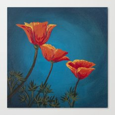 California Dreamin' - Orange Poppies  Canvas Print