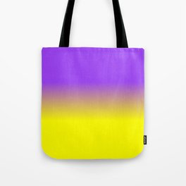 Neon Purple and Neon Yellow Ombré  Shade Color Fade Tote Bag