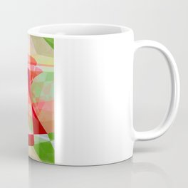 Red Rose Edges Abstract Polygons 2 Coffee Mug