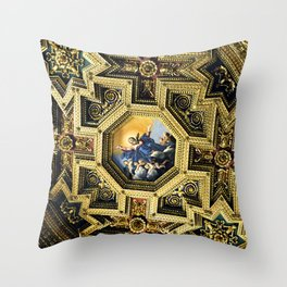 Basilica of Our Lady in Trastevere Throw Pillow