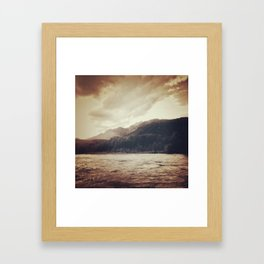 Monotone Mountains Framed Art Print