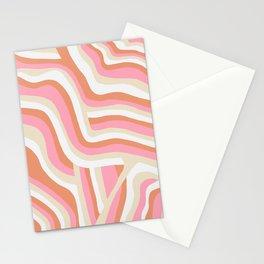 bubblegum pink zebra stripes Stationery Cards